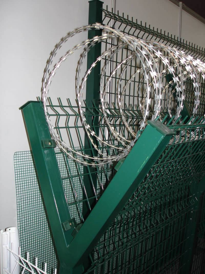 Razor Coils And Welded Mesh Panel For Safety Fencing And Gate