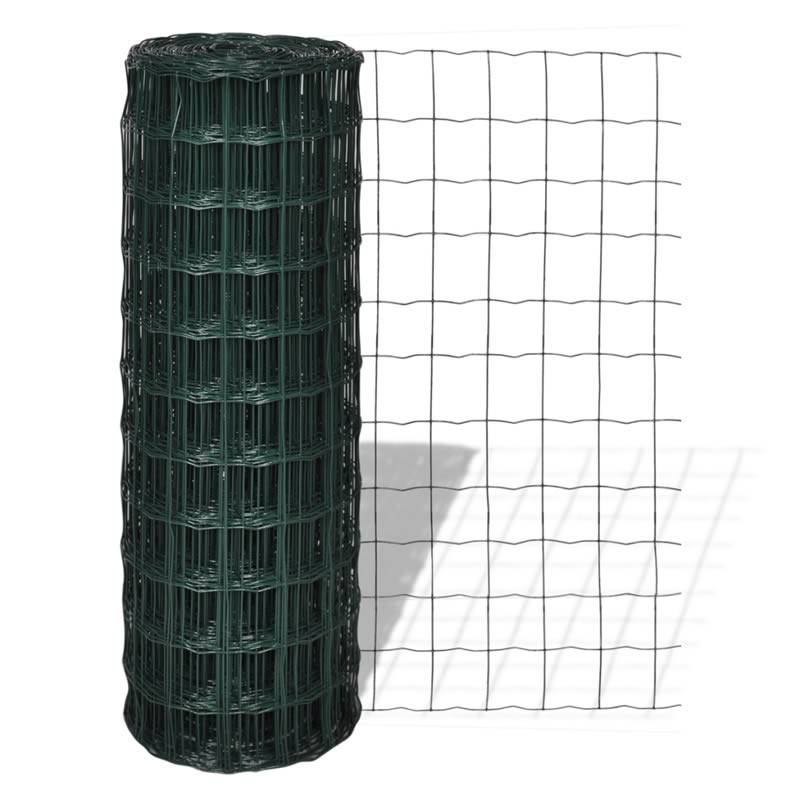 Galvanized Chain Link Fence and Green PVC Europe Fence