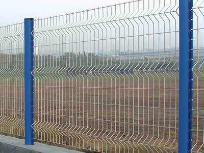 Several 3D security fences with three curves.