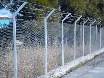 Anti Intruder Fence Prevents Intruders Entering Forbidden