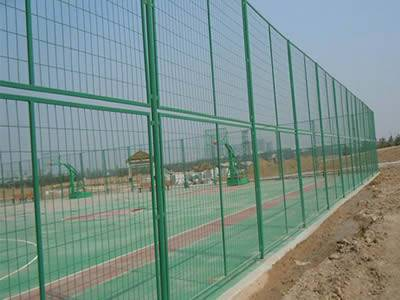 Several welded anti-intruder fence with double piece structure.