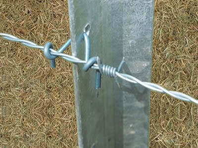 Barbed Wire Fence Post Star Picket Or Round Post For