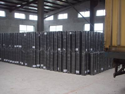Black PVC coated welded wire mesh  warehouse