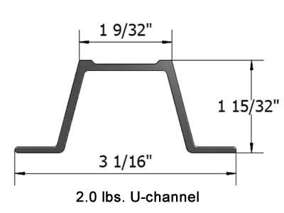 A Cross Section Of Heavy Duty U Channel Post And Detailed Data