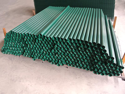 Round Post In 3d Security Fence Chain Link Fence Amp Roll
