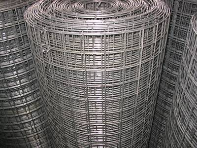 Three rolls of reinforcing bar mesh