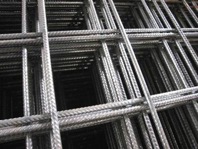 Reinforcing bar mesh panels with large square holes