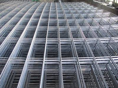 There are some panels of galvanized welded wire mesh.