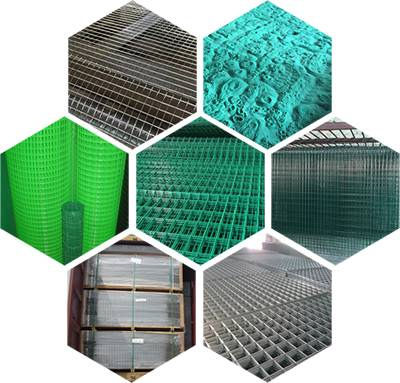 Our welded wire mesh rolls and welded wire panels in galvanized, PVC coated and stainless steel wires.